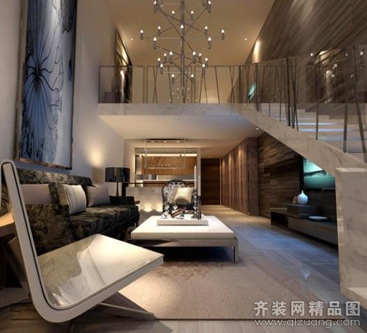 水岸国际loft现代简约装修效果图实景图