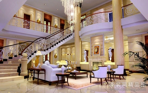 680平米别墅欧式风格家装装修图片设计-南通齐装网