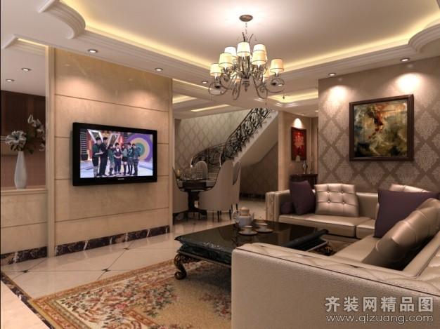 150平米跃层户型欧式风格家装装修图片设计-温州齐装