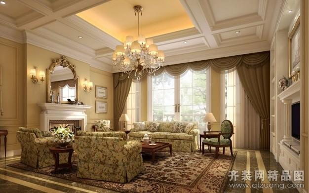 260平米普通户型欧式风格家装装修图片设计-青岛齐装