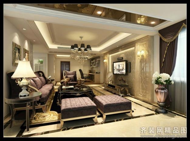 125平米普通户型欧式风格家装装修图片设计-温州齐装