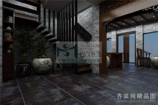 600平米普通户型中式风格家装装修图片设计-郑州齐装