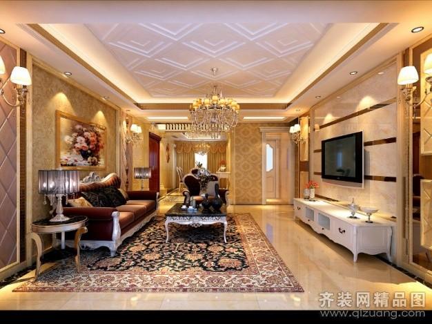 140平米普通户型欧式风格家装装修图片设计-常熟齐装
