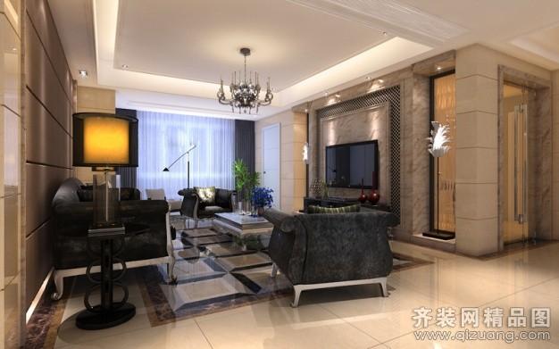 120平米普通户型欧式风格家装装修图片设计-江阴齐装