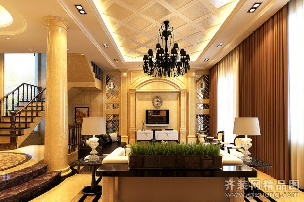 325平米别墅欧式风格家装装修图片设计-苏州齐装网