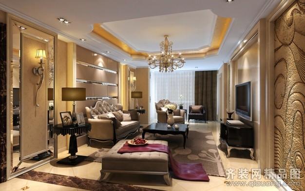 125平米普通户型欧式风格家装装修图片设计-江阴齐装
