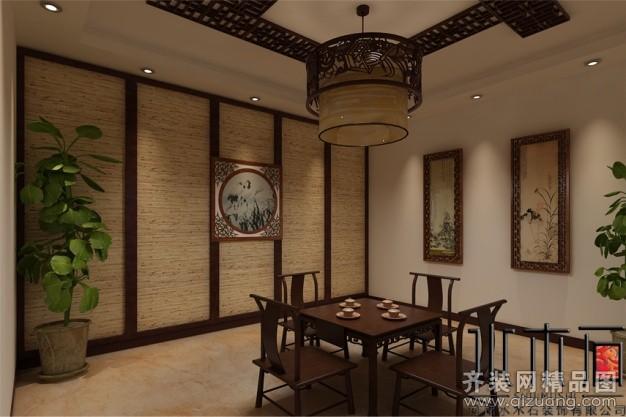 150平米普通户型中式风格家装装修图片设计-郑州齐装