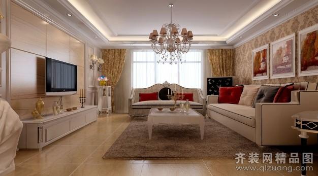 130平米普通户型欧式风格家装装修图片设计-郑州齐装