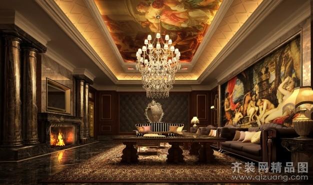 1400平米普通戶型歐式風格家裝裝修圖片設計-溫州齊裝