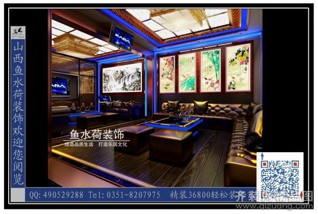 360平米普通户型中式风格家装装修图片设计-太原齐装