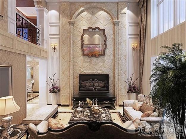 客厅欧式风格装修效果图实景图