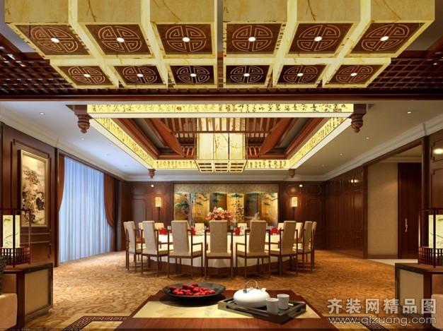 1200平米普通户型中式风格家装装修图片设计-合肥齐