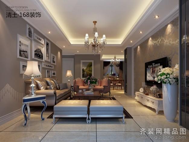 100平米普通户型中式风格家装装修图片设计-合肥齐装