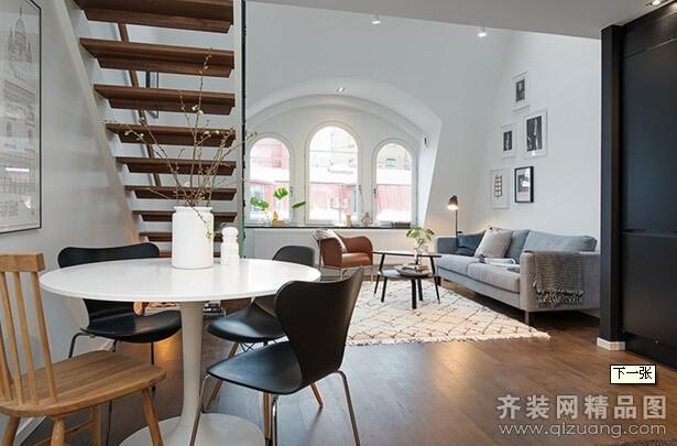 142平米复式户型现代简约家装装修图片设计-温州齐装