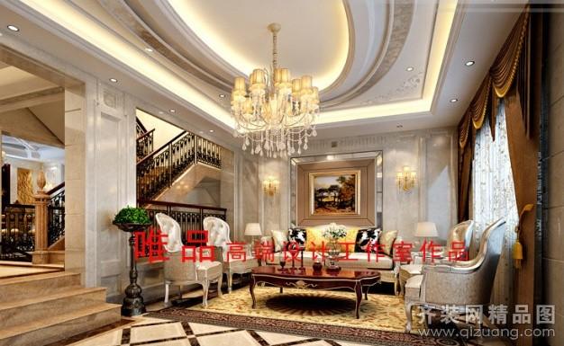 380平米别墅欧式风格家装装修图片设计-吴江齐装网