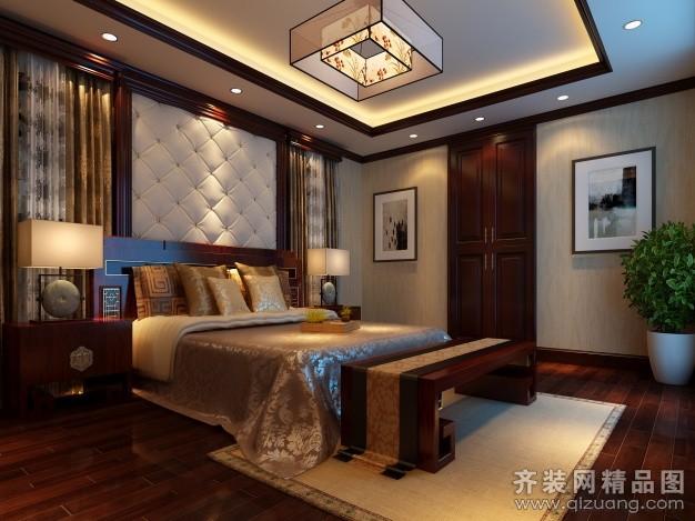 200平米复式户型中式风格家装装修图片设计-吴江齐装