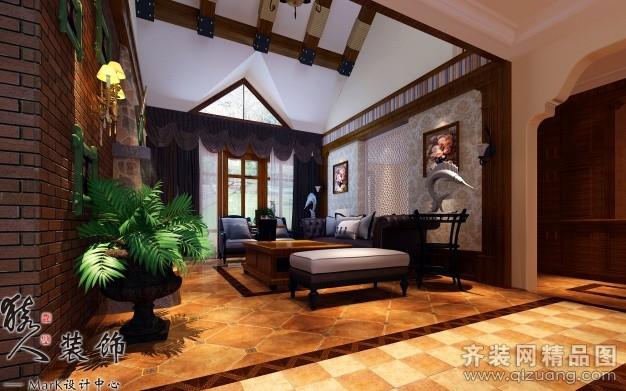 260平米别墅美式风格家装装修图片设计-合肥齐装网