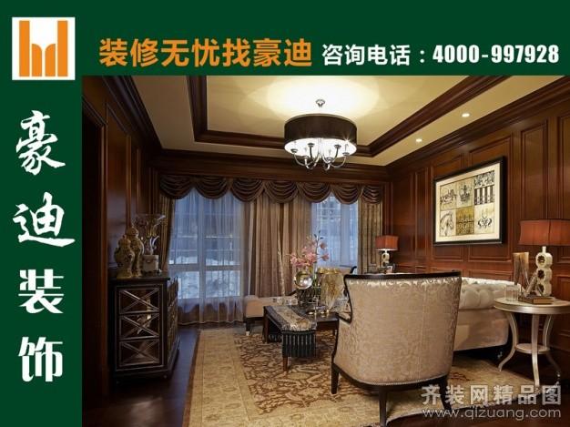 160平米别墅欧式风格家装装修图片设计-武汉齐装网