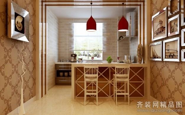 102平米普通户型欧式风格家装装修图片设计-郑州齐装