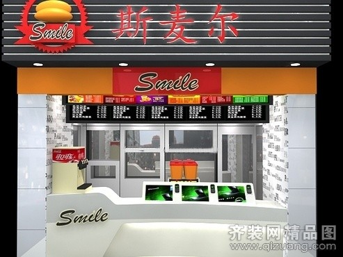 小吃街甜品店門面裝修效果圖