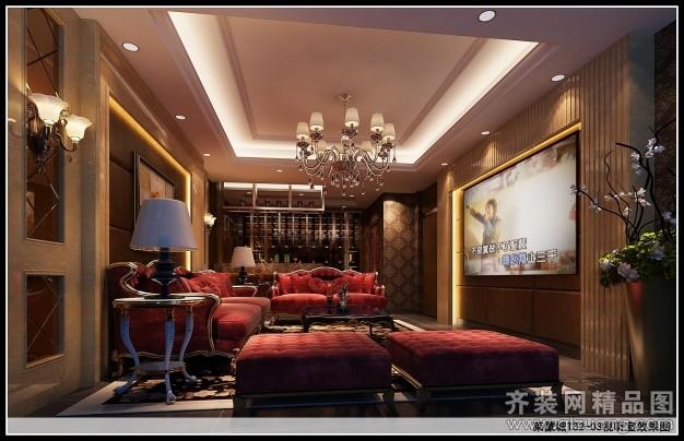 400平米别墅欧式风格家装装修图片设计-常州齐装网