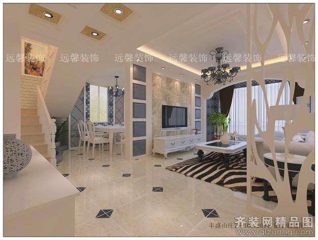 180平米復式戶型歐式風格家裝裝修圖片設計-鎮江齊裝