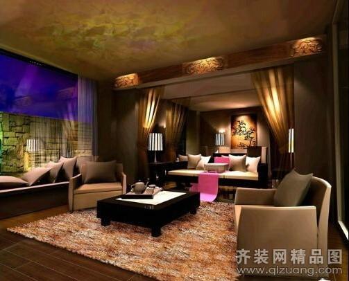 养生馆1809平米普通户型中式风格家装装修图片设计-齐
