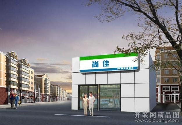 日本便利店田园风格装修效果图实景图