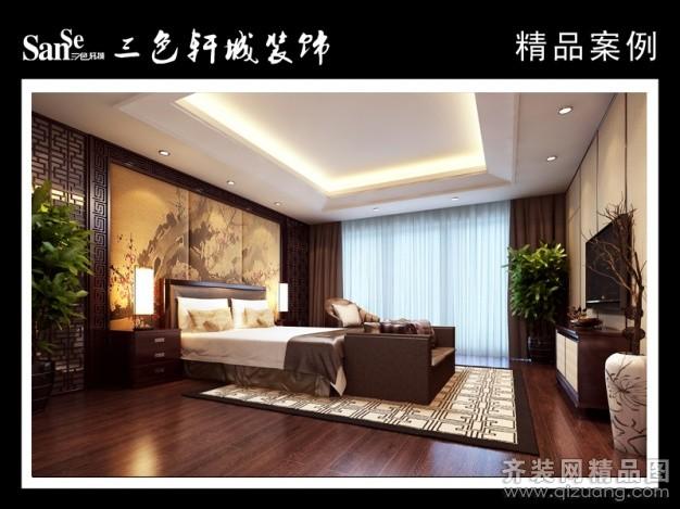 315平米别墅中式风格家装装修图片设计-苏州齐装网