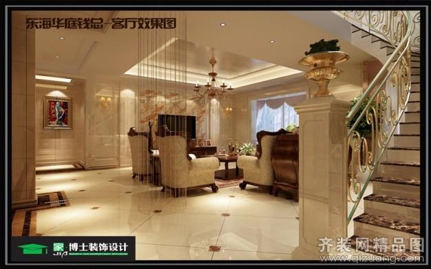 240平米复式户型欧式风格家装装修图片设计-张家港齐