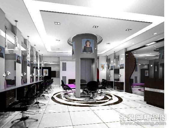 15平方理发店装修图片