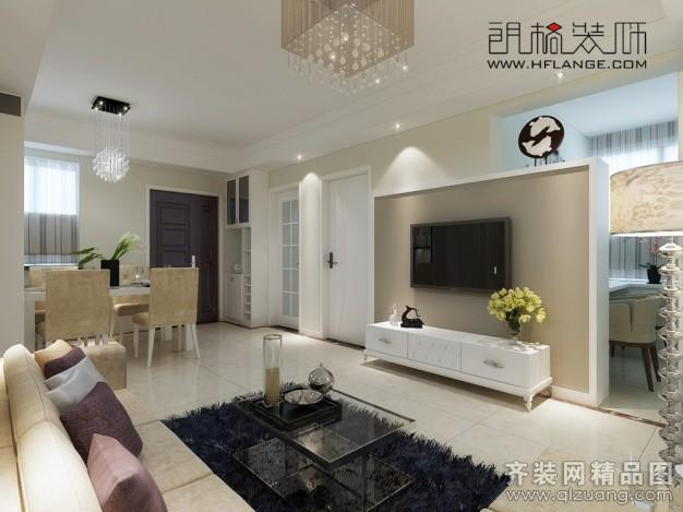 94平米普通户型现代简约家装装修图片设计-合肥齐装