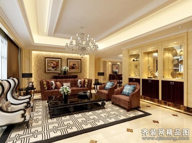 中岳大厦古典风格装修效果图实景图