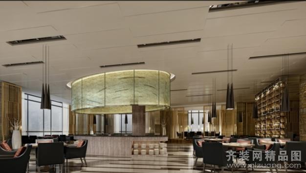 高档餐厅欧式风格装修效果图实景图