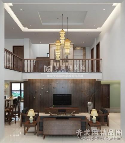 520平米别墅中式风格家装装修图片设计-厦门齐装网