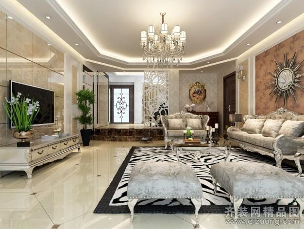 208平米别墅欧式风格家装装修图片设计-贵阳齐装网