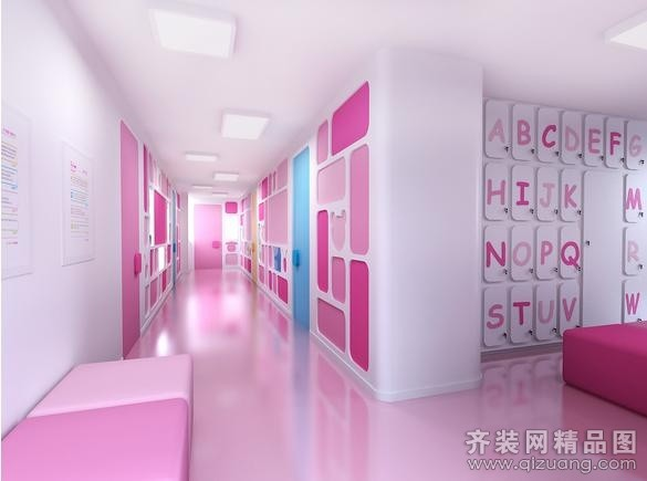幼儿园现代简约装修效果图实景图