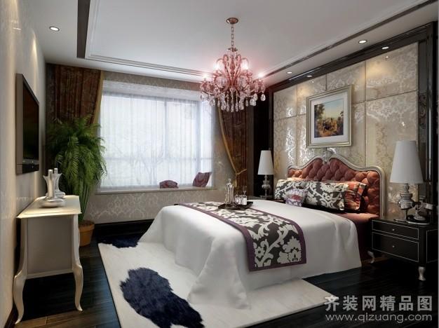 93平米普通户型欧式风格家装装修图片设计-扬州齐装