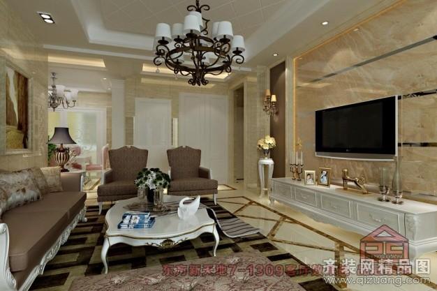 118平米普通户型欧式风格家装装修图片设计-张家港齐