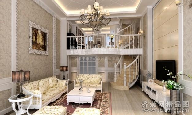 260平米跃层户型田园风格家装装修图片设计-厦门齐装