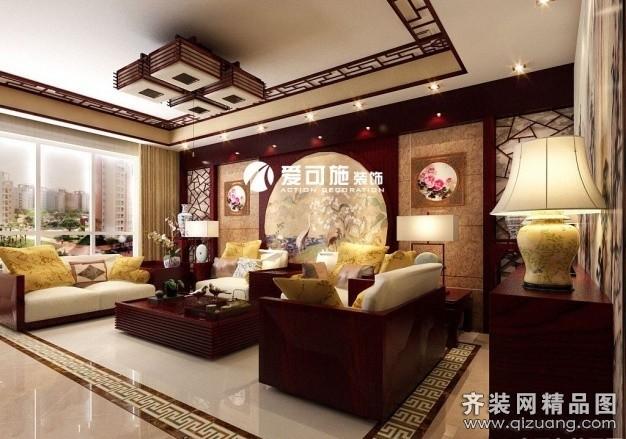 领势公馆中式风格装修效果图实景图
