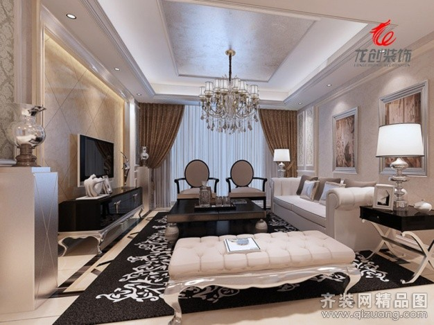 140平米普通戶型歐式風格家裝裝修圖片設計-姜堰齊裝