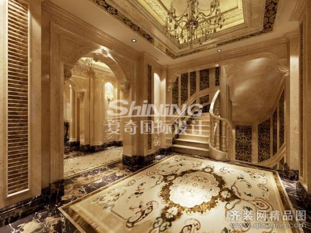 500平米别墅欧式风格家装装修图片设计-无锡齐装网