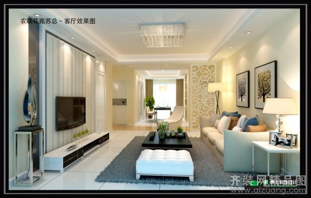 120平米普通户型欧式风格家装装修图片设计-张家港齐