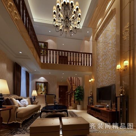 135平米复式户型欧式风格家装装修图片设计-合肥齐装