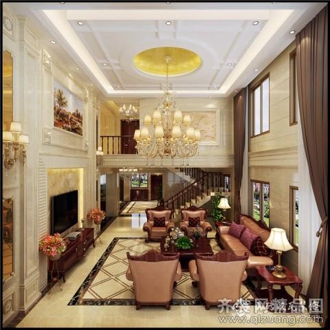 500平米别墅欧式风格家装装修图片设计-泉州齐装网