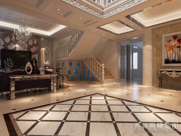 200平米别墅欧式风格家装装修图片设计-南京齐装网