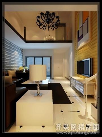 135平米复式户型现代简约家装装修图片设计-合肥齐装