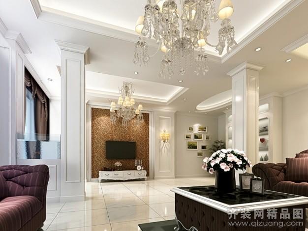300平米别墅欧式风格家装装修图片设计-苏州齐装网
