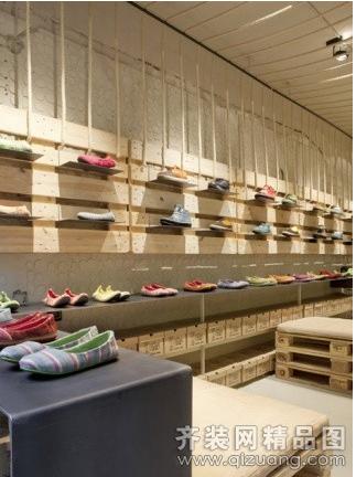 品牌鞋店现代简约装修效果图实景图